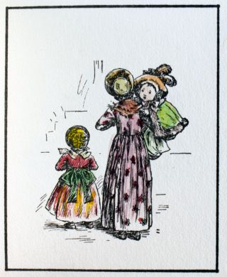 Drawings by Kate Greenaway, Verses by Laura E. Richards. From Ladies' Home Journal, 1895 and 1896.