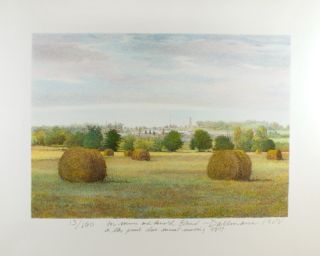 Landscape with Hay Wheels
