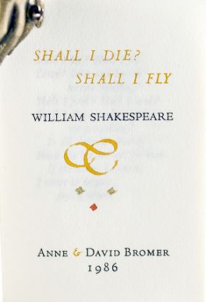 Shall I Die? Shall I Fly? William Shakespeare