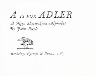 A is for Adler: A New Sherlockian Alphabet.