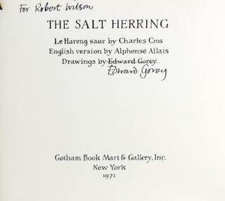 The Salt Herring. Charles Cros.