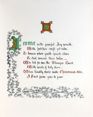 Lights and Shadows, a Yule Tide Rhyme.