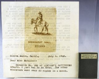 Lincoln's Gettysburg Speech. Together with: two TLs from Bernhardt Wall to Natalie Williams and a...