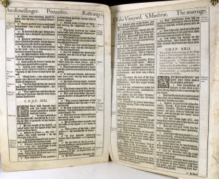 "The Making of the King James Bible: A Monograph, with Comparisons from the Bishops Bible and the Manuscript Annotations of 1602, with an Original Leaf from the Great ""She"" Bible of 1611."