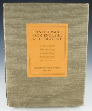 Printed Pages from English Literature.