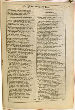 Original Leaves From the First Four Folios of the Plays of William Shakespeare 1623, 1632, 1663, 1685.