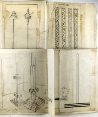 Archive of original designs for department store display fixtures.
