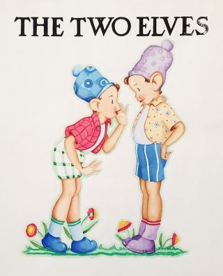 "Original artwork for ""The Two Elves."""