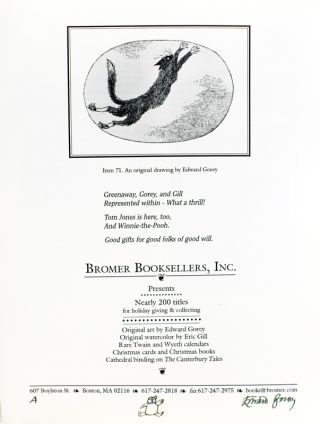 Original artwork for Neiman-Marcus/Bromer Booksellers Holiday catalogue.