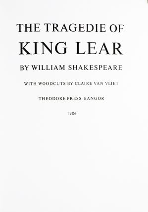 The Tragedie of King Lear.