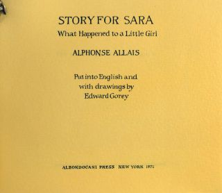 Story for Sara. What Happened to a Little Girl.