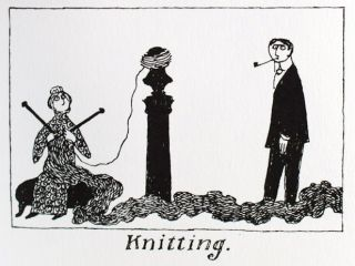 The Deadly Blotter. Thoughtful Alphabet XVII. Edward Gorey.