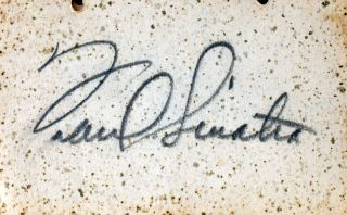 Dance card signed by Frank Sinatra and Russ Morgan