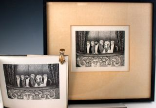 The Blue Aspic. Together with: a signed lithograph. Edward Gorey.