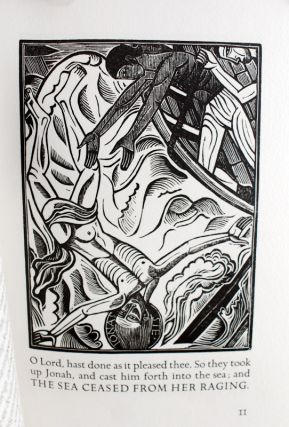The Book of Jonah. Together with thirteen wood engravings by David Jones for the book