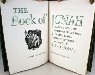The Book of Jonah. Together with: thirteen wood engravings by David Jones for the book.