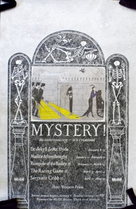 "Poster for PBS ""Mystery"" Series. Edward Gorey."