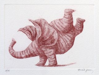 """Pink Elephant in Handstand"""
