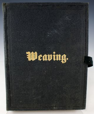 Weaving (cover title).