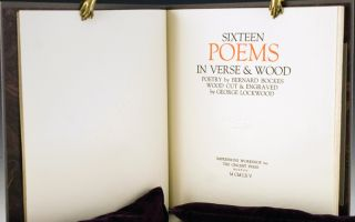 Sixteen Poems in Verse and Wood.
