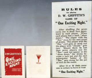 "Game of D.W. Griffith's ""One Exciting Night"""