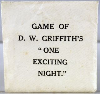 """Game of D.W. Griffith's """"One Exciting Night"""""""
