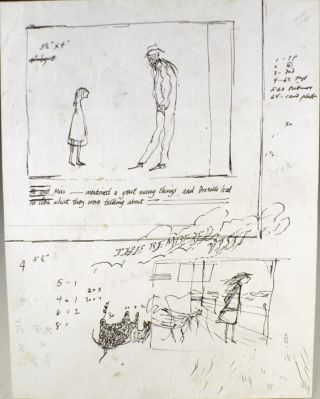 Preliminary sketches and text for The Remembered Visit. Together with a copy of the published book.