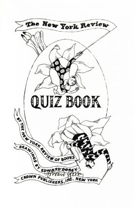 The New York Review Quiz Book.