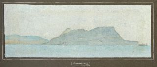 "The Atlantic Islands. An Album Containing Fifteen Watercolors and One Pen-and-Ink Wash. Views of a Voyage from Lisbon to Gibraltar Aboard the RMSP ""Arcadian"""
