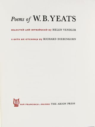 Poems of W. B. Yeats.