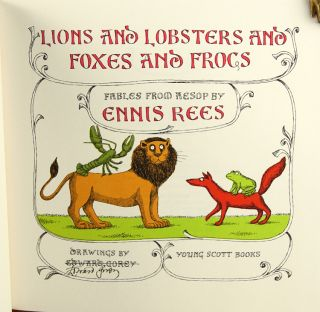 Lions and Lobsters and Foxes and Frogs. Fables from Aesop.
