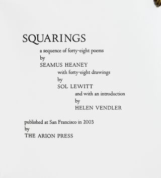 Squarings, a sequence of forty-eight poems.