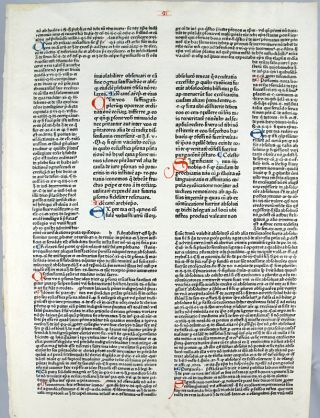 Leaf from the Decretales. Gregorius IX