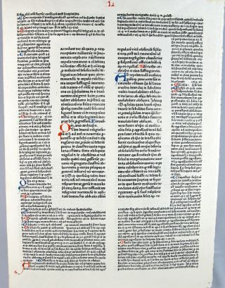 Leaf from the Decretales.