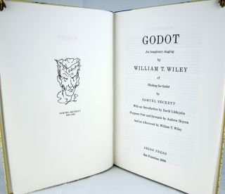 Godot. An Imaginary Staging by William T. Wiley of Waiting for Godot by Samuel Beckett.