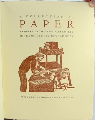 Collection of Paper Samples from Hand Papermills in the United States.