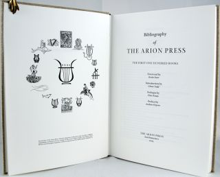 Bibliography of the Arion Press: The First One Hundred Books.