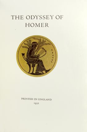 The Odyssey of Homer. Translated by T. E. Lawrence with a three-page note by him at the end of the text.