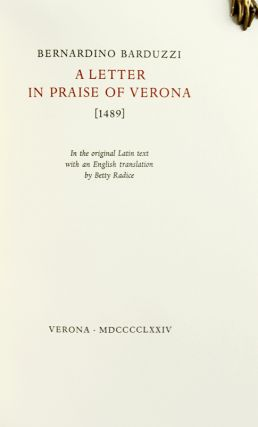 A Letter in Praise of Verona.