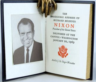 The Inaugural Address of Richard Milhous Nixon, President of the United States. Delivered at the Capitol, Washington, January 20, 1969.