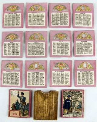 Silk Calendar of Saint's Days for the Year 1835
