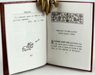 Upon Small Types: The Preface to Brilliants.