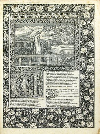 Cancel proof bifolium from the Kelmscott Chaucer
