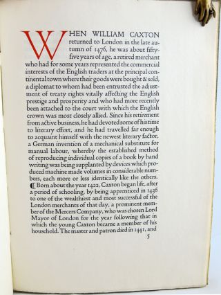 William Caxton: A Paper Read at a Meeting of the Club of Odd Volumes in Boston Massachusetts...
