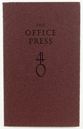 The Office Press: Construction of the Office Press at Cuckoo Hill. David Chambers