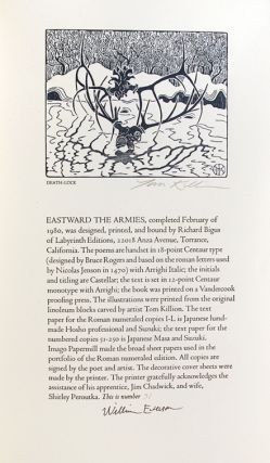 Eastward the Armies: Selected Poems 1935-1942 that Present the Poet's Pacifist Position through the Second World War.