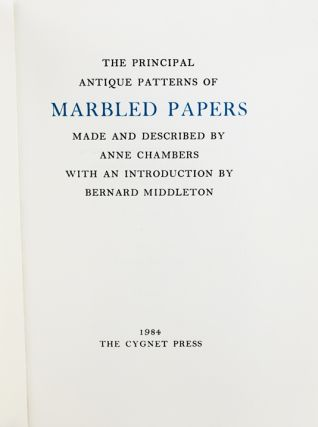 The Principal Antique Patterns of Marbled Papers.