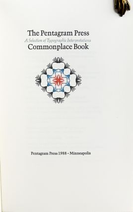 The Pentagram Press Commonplace Book: A Selection of Typographic Interpretations.