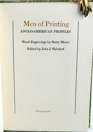 Men of Printing: Anglo-American Profiles.
