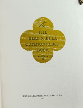 The Bird & Bull Commonplace Book.